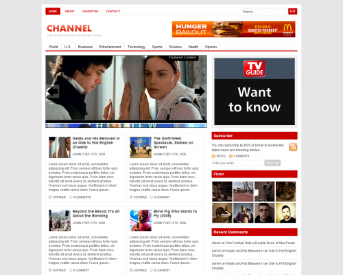 Channel тема WordPress