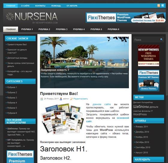 NURSENA тема WordPress