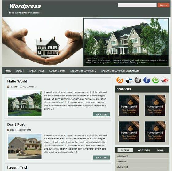 Realtypress тема WordPress