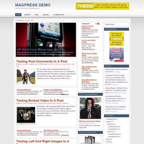 Bravio тема WordPress