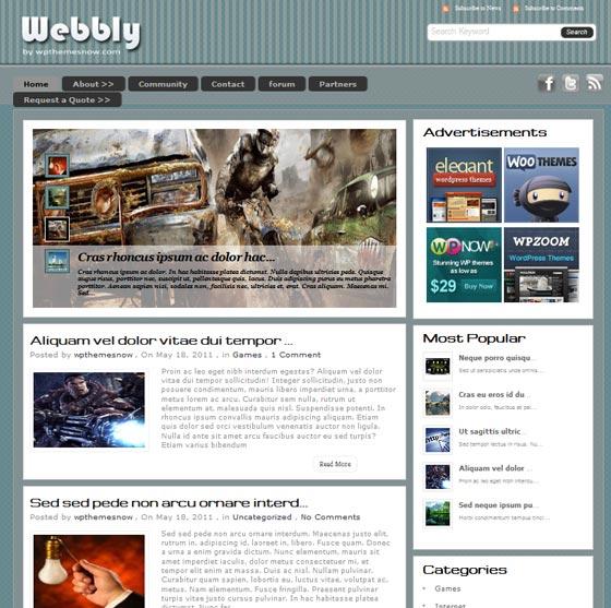 Webly тема WordPress