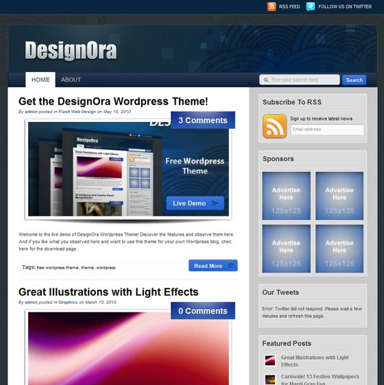 DesignOra тема WordPress