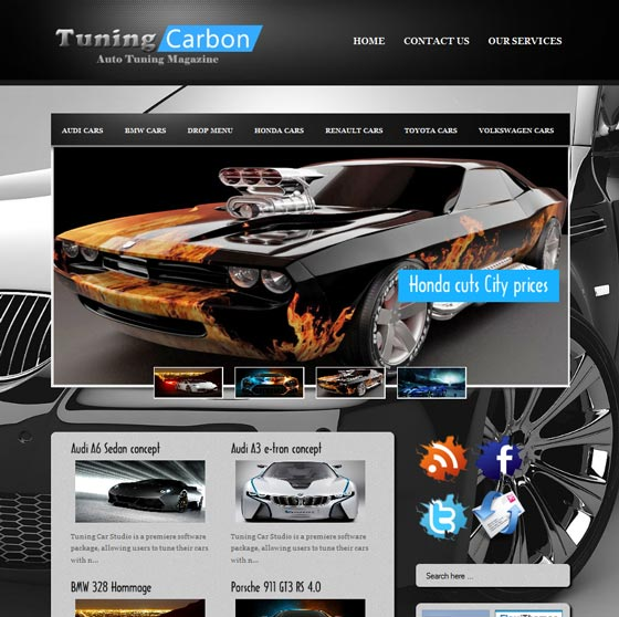 Tuning Carbon тема WordPress