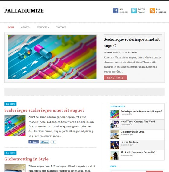 Palladiumize тема WordPress