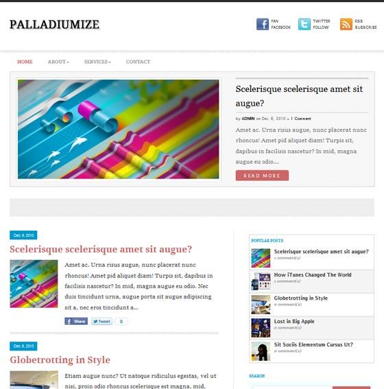 Palladiumize тема WordPress