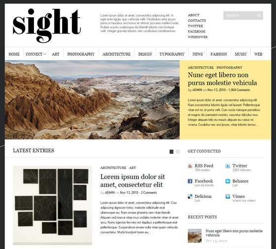 Супер тема Sight тема WordPress