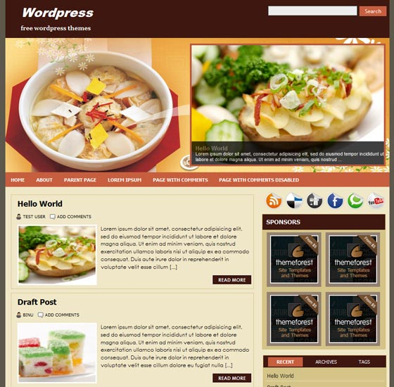 FoodPress тема WordPress