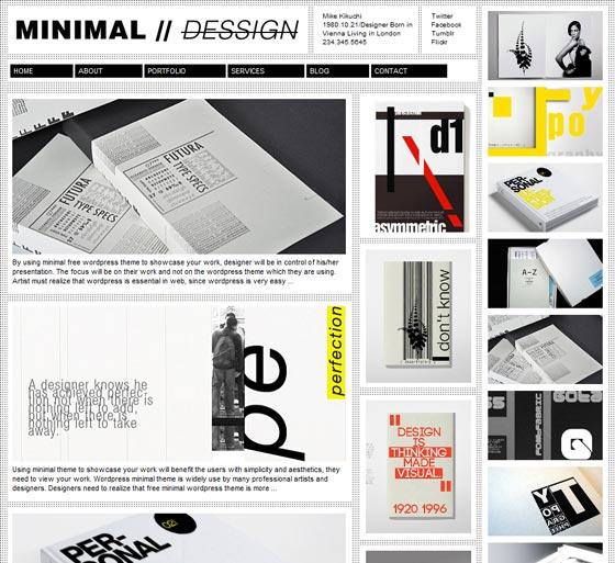 Minimal Design тема WordPress