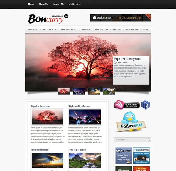 Bon Curry тема WordPress