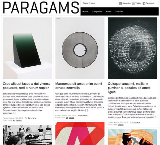 Paragrams тема WordPress