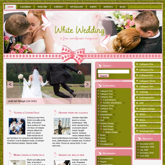 White wedding тема WordPress