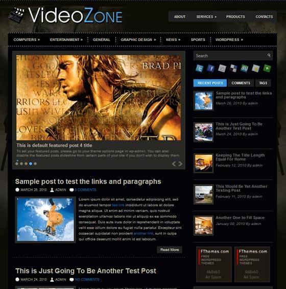 VideoZone тема WordPress