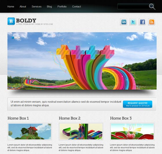 Boldy тема WordPress
