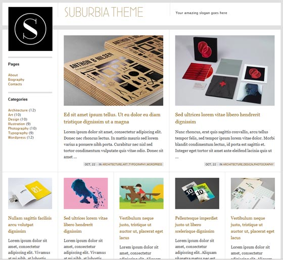 Suburbia  тема WordPress