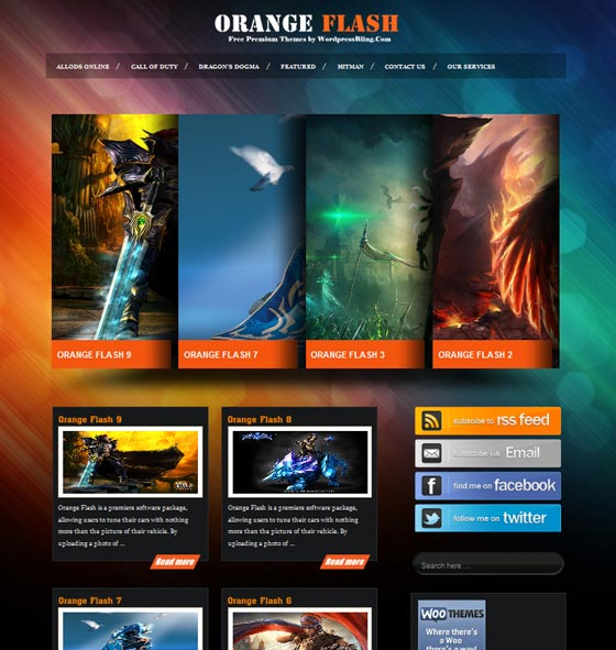 Orange Flash тема WordPress