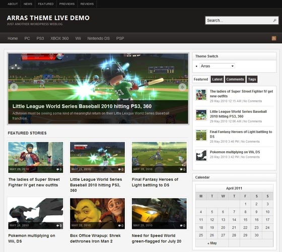 Arras Theme тема WordPress