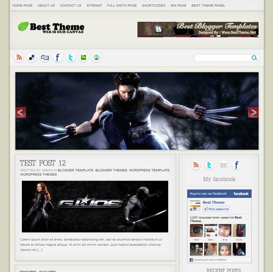 Shadow тема WordPress