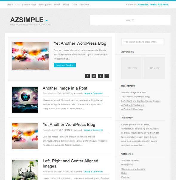 Azsimple тема WordPress
