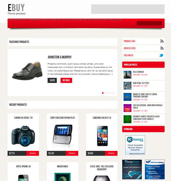Ebuy тема WordPress