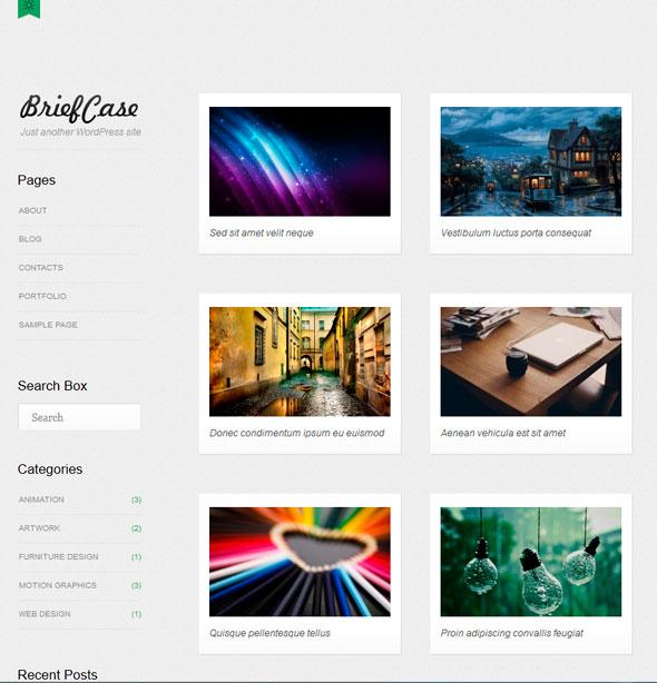 Briefcase тема WordPress