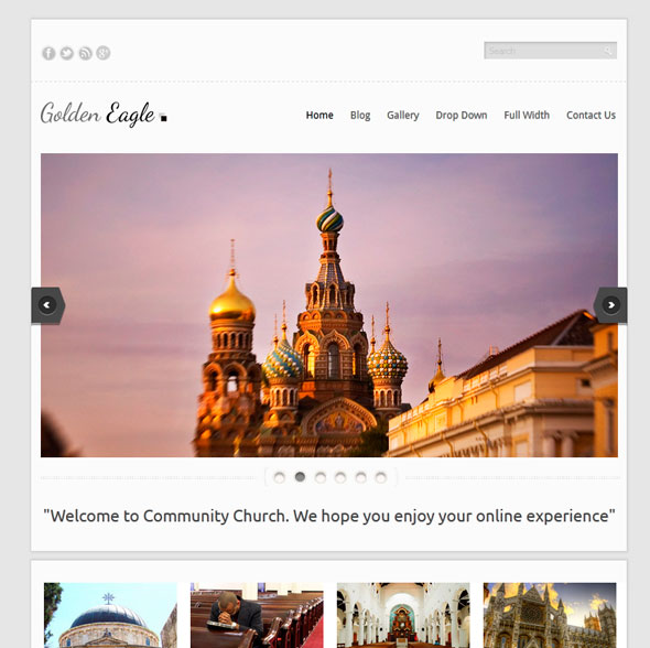 Golden Eagle тема WordPress