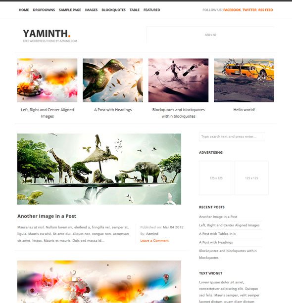 YAMINTH тема WordPress