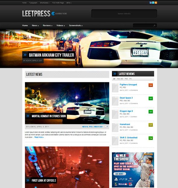 LeetPress тема WordPress