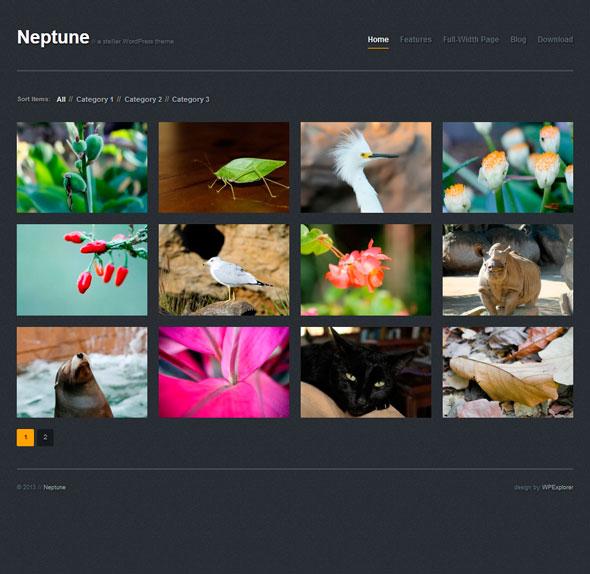 Neptune тема WordPress