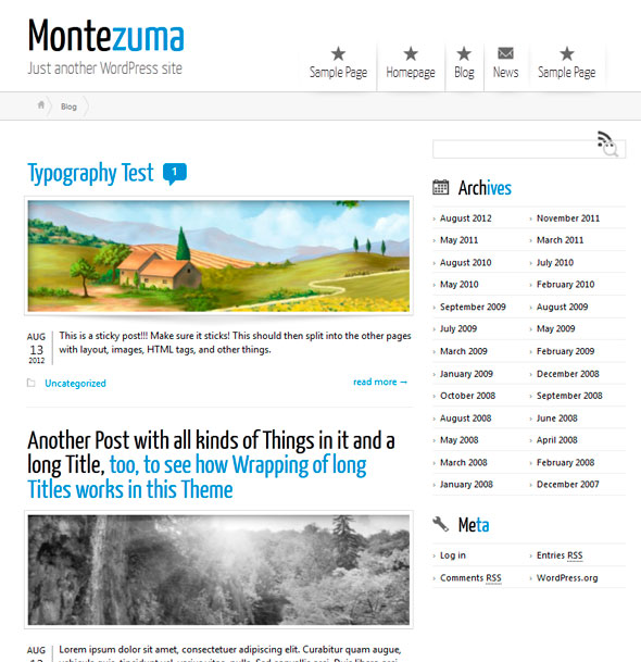 Montezuma тема WordPress