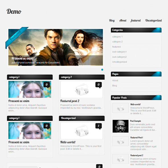 Amphion Lite тема WordPress