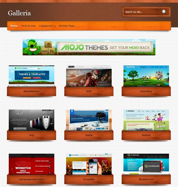 Galleria тема WordPress