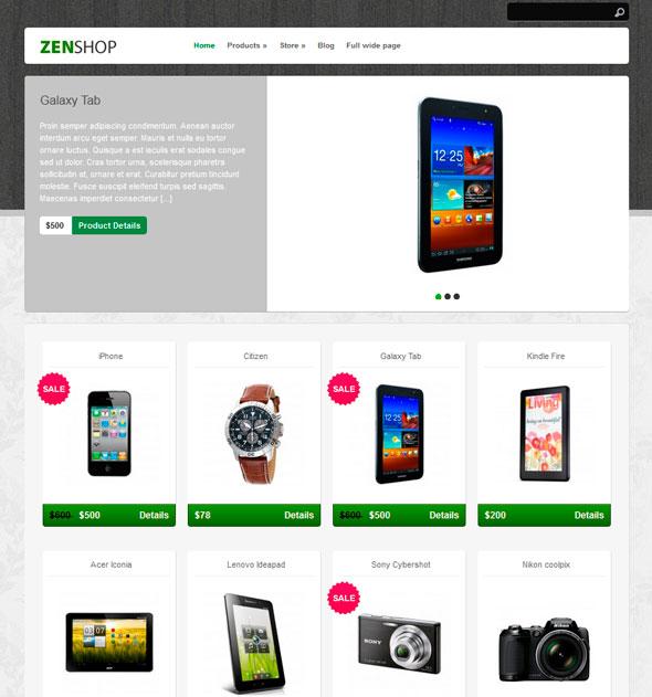 Zenshop тема WordPress