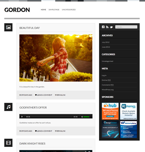 Gordon тема WordPress
