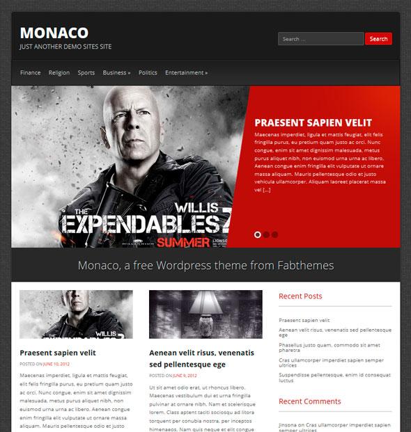 Monaco тема WordPress