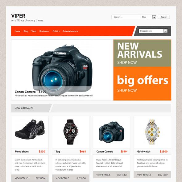 Viper тема WordPress