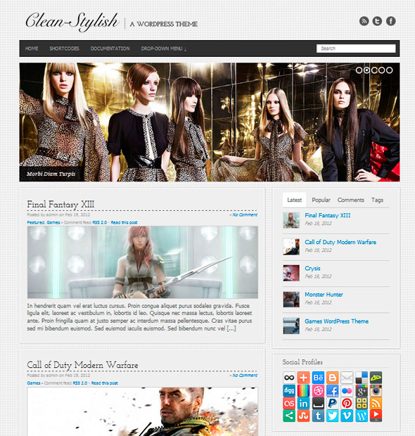 Clean Stylish тема WordPress