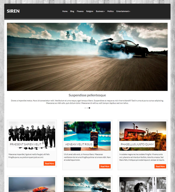 Siren тема WordPress