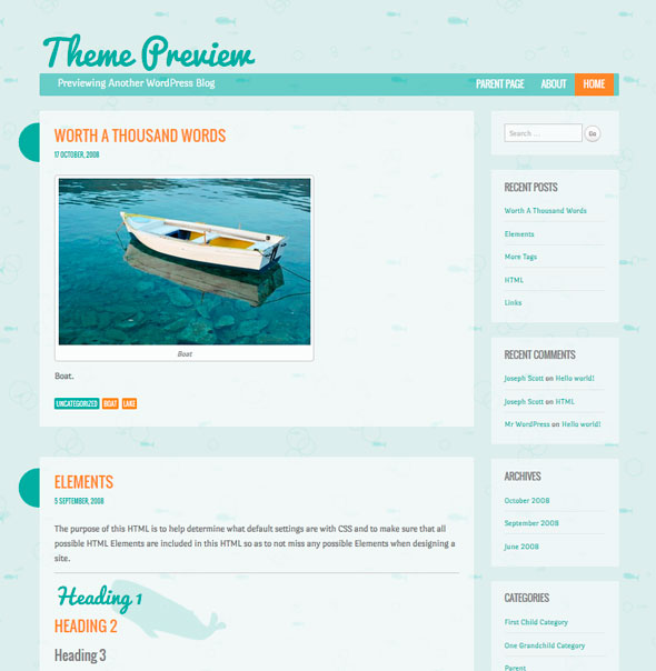 Something Fishy тема WordPress