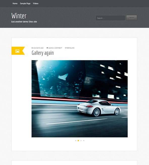 Winter тема WordPress