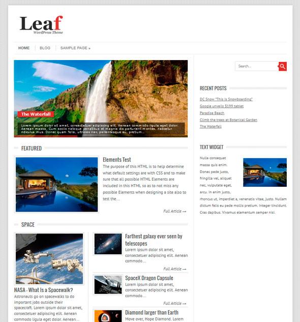 Leaf тема WordPress