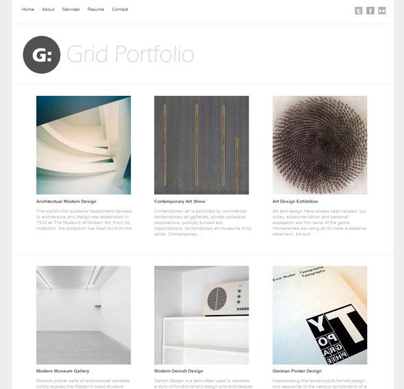 Grid Portfolio тема WordPress