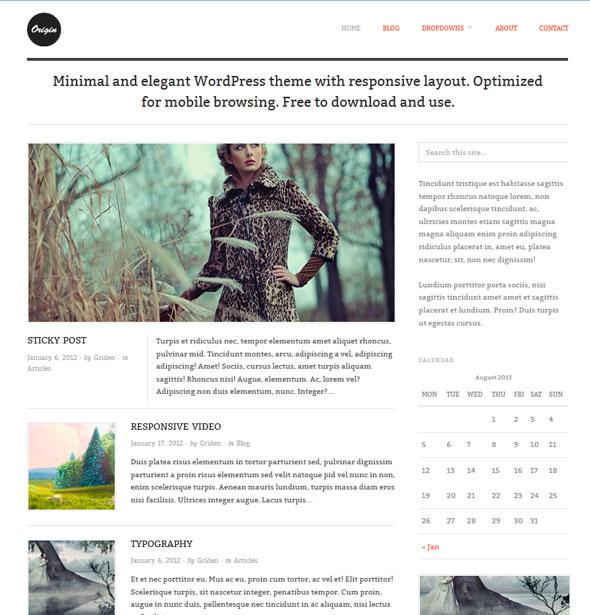 Origin тема WordPress