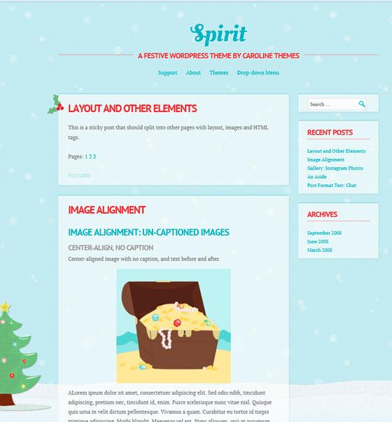 Spirit тема WordPress