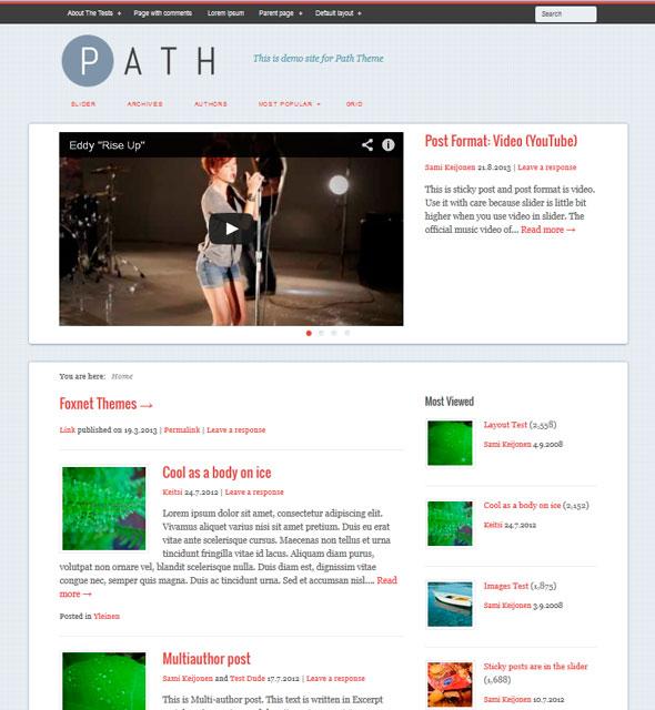Path тема WordPress