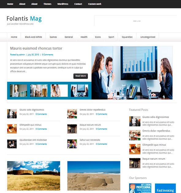 FolantisMag тема WordPress