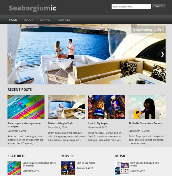 Seaborgiumic тема WordPress