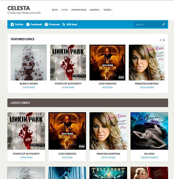 Celesta тема WordPress
