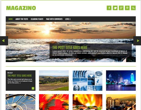 Magazino тема WordPress