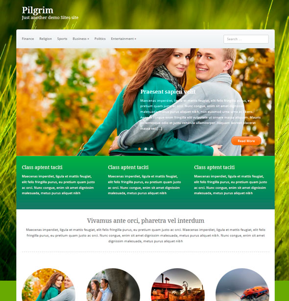 Pilgrim тема WordPress
