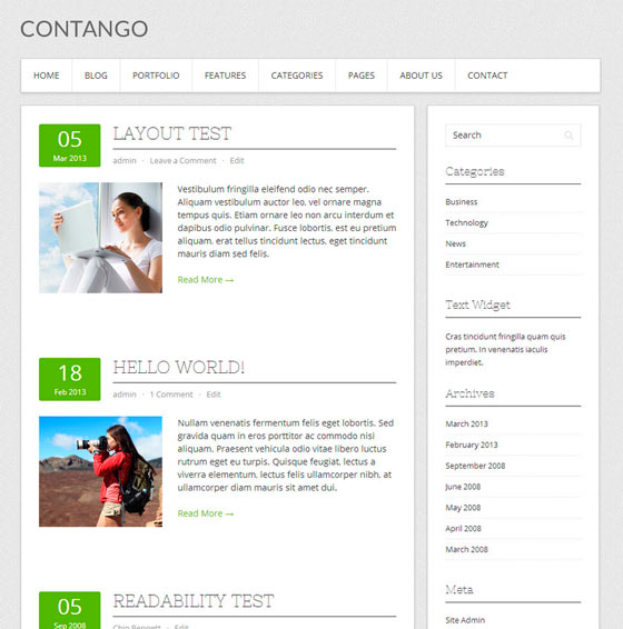 Contango тема WordPress